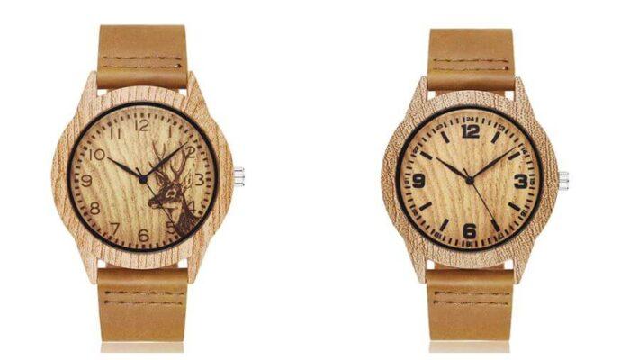 Imitace dřevěných hodinek z AliExpress